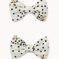 Star Bow Hair Clips