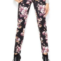 Bar III Mid-Rise Floral-Print Leggings