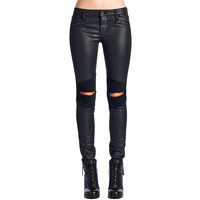 Cult Of Individuality Moto Midrise Womens Jeans In Vintage Onyx