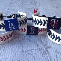 MLB Leather Baseball Bracelets