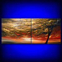 In My Dreams - http://www.etsy.com/listing/93155415/large-abstract-painting-cloud-bird-tree