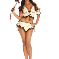 Cream Native Desires Sexy Costume