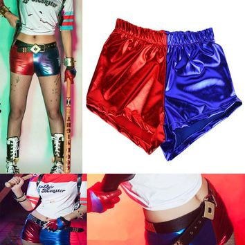 Takerlama Harley Quinn Batman Costume Cosplay Booty Shorts Panties Suicide Squad Halloween Red Blue Cosplay Accessories