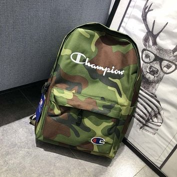 Champion new rucksack backpack couple sports travel bag backpack green