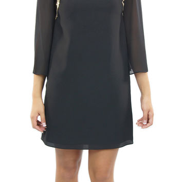 BCBGeneration | black cocktail dress with sequin detail