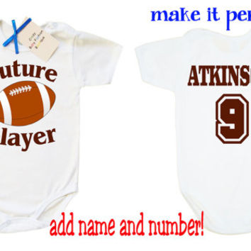 Football baby bodysuit, Football baby clothes, Future football player custom baby bodysuit, funny baby vest, baby shower gift sport baby,