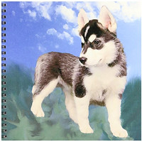 3dRose db_4439_1 Siberian Husky Puppy Drawing Book, 8 by 8-Inch
