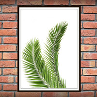 Tropical Leaf Print, Green Palm Art, Palm Art, Palm Leaves, Art Photo, Tropical Prints, Palm Leaf Prints, Tropical Decor, Green Decor *5*