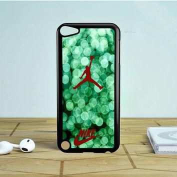 Red Nike Air Jordan Green Glitter iPod Touch 5 Case | Tegalega