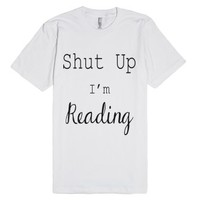 I'm Reading-Unisex White T-Shirt