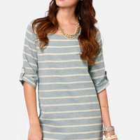 Nothin' But Blue Skies Striped Shift Dress
