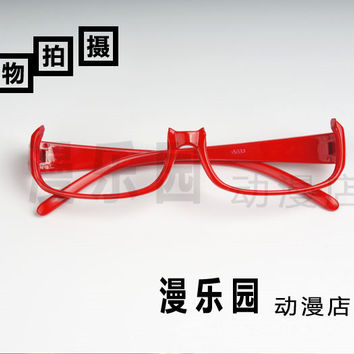 HOT Anime Tokyo Ghouls Glasses Cosplay Prop Semi-Rimless Glasses Original Design Two Color Optional