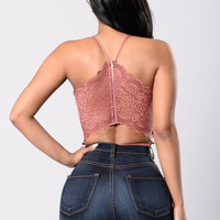 Watch Your Back Bodysuit - Marsala