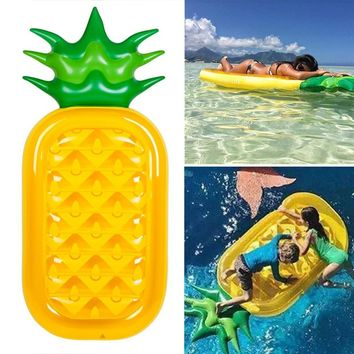 Giant Pineapple Pool Float Inflatable Swimming Raft Water Swim Ring Toys Durable