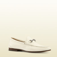 unlined leather horsebit loafer 367926BXO009022