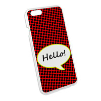 Hello Comic Talk Bubble Snap On Hard Protective Case for Apple iPhone 6