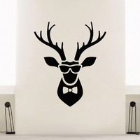 Wall Decal Vinyl Sticker Wild Animal Deer Reindeer Decor Sb431