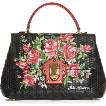 Dolce&Gabbana Lucia Leather Satchel | Nordstrom