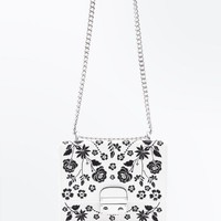 White Floral Embroidered Box Bag | New Look