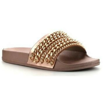 Chain Reaction Rose Gold Sandal