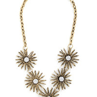 ModCloth Statement Promising Petals Necklace