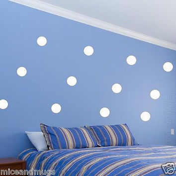 Polka Dot Wall Decals Peel & Stick (12) Pack Wall Dots Colors Kids Room MM-592