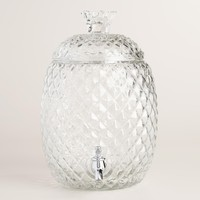 Embossed Glass Pineapple Beverage Dispenser