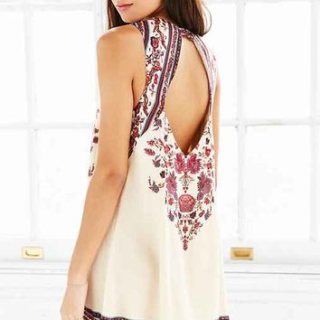 Ecote Guinevere Open-Back Frock Dress