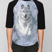 Running Wolf Pack Raglan Tee - Urban Outfitters