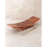 Hand Carved Wooden Incense Burner