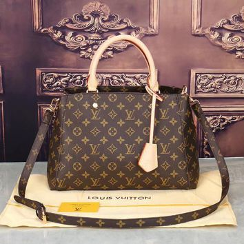 LV Women Shopping Bag Leather Satchel Crossbody Shoulder Bag-16