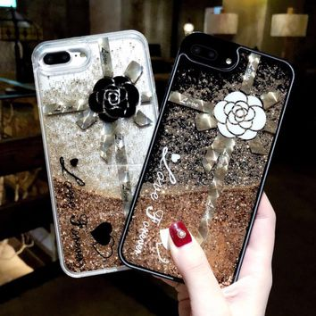 Quicksand Capinha For iPhone 7 7Plus 8 8Plus X Luxury Glitter Case Cover For iPhone 6 6s 6Plus Hard Plastic ipone 6 s Coque Capa
