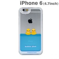 Strapya World : Floating Rubber Duckies in Blue Water Cute Hard Case for iPhone 6 (Girls)