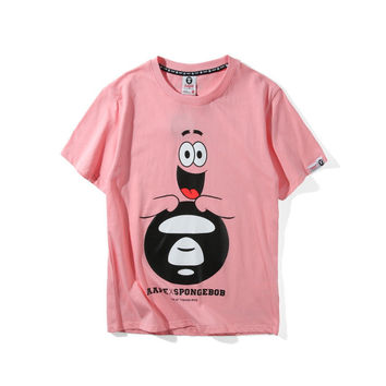'AAPE' Casual Short Sleeve Summer Cartoons Stylish Plus Size T-shirts [10425657735]