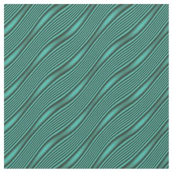 Teal Waves Fabric