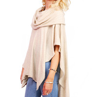 Drape Cowl Poncho | Cute Clothes at Pink Ice
