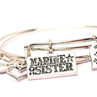 Marine Sister Expandable Bangle Bracelet Set
