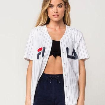DCCKXI2 FILA Lacey Womens Baseball Jersey | Knit Tops + Tees