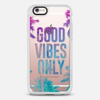 Transparent Tropical Summer Good Vibes Only iPhone 6s case by hyakume | Casetify