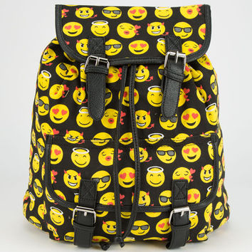 Emoji Backpack Black One Size For Women 25123310001