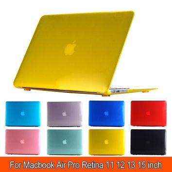 Hot Crystal Hard PC Case Cover Sleeve For MacBook Air 11 A1465/ Air 13 inch A1466 Pro Retina 12 13 15 Inch + Keyboard cover
