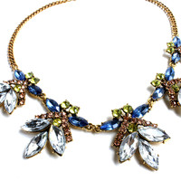 """Fly Butterfly"" Jeweled Statement Necklace"