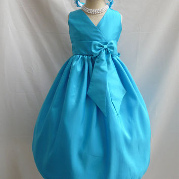 Flower Girl Dress V Neck Dresses Wedding Summer Christmas Easter Recital Pageant Bridesmaid Communion Church Toddler Baby Cheap