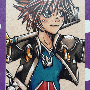 Sora inspired art card print (Size 7x5 inches)