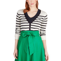 ModCloth Pinup Mid-length A-line Musee Matisse Skirt in Green