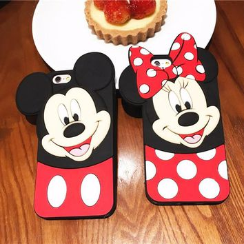 Minnie & Mickey Mouse 3D phone case for iPhone