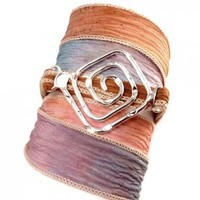 Silk Wrap Bracelet with Greek Key Connector | charmed design