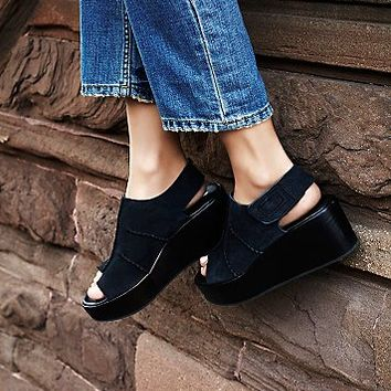 Free People Womens Runaway Wedge