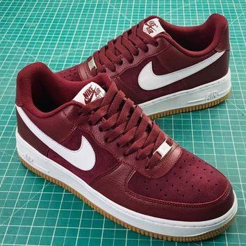 Nike Air Force 1 Low Af1 Red Yellow White Sport Shoes - Best Online Sale