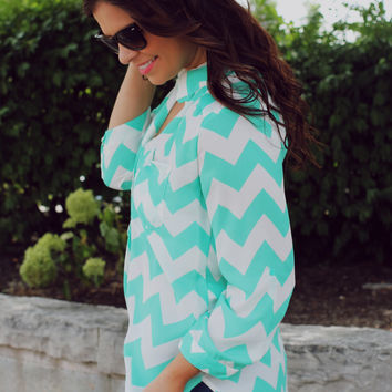 Don't Kill My Vibe Blouse - Mint